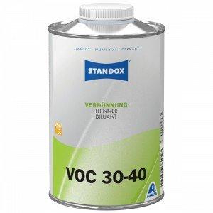Розчинник Standox Thinner VOC 30-40 для матового лаку повільний 1 л